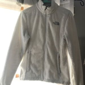 Fluffy White North Face Jacket